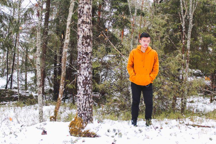 Lý Thành Cơ tản bộ trong rừng Haga ở Uppsala lite