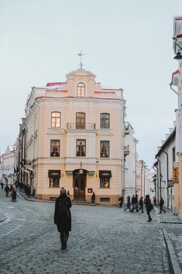 Phố cổ Tallinn Estonia một ngôi nhà cổ