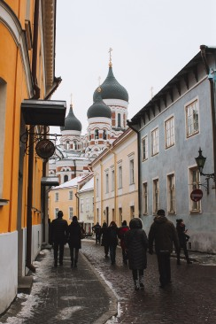 Phố cổ Tallinn Estonia nhà thờ lớn