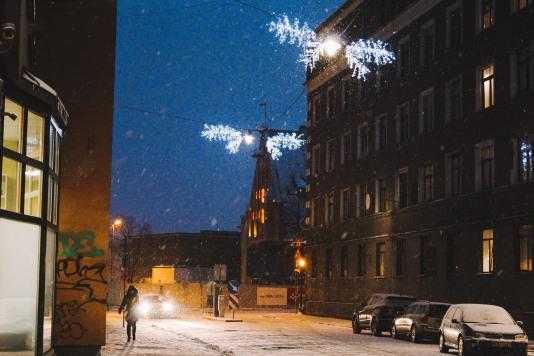 Phố mùa đông Riga