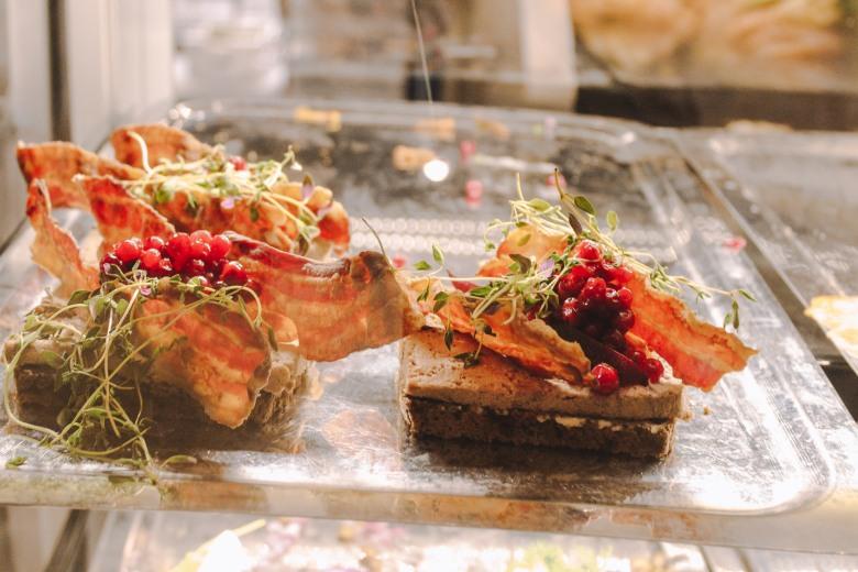 Smørrebrød tại chợ