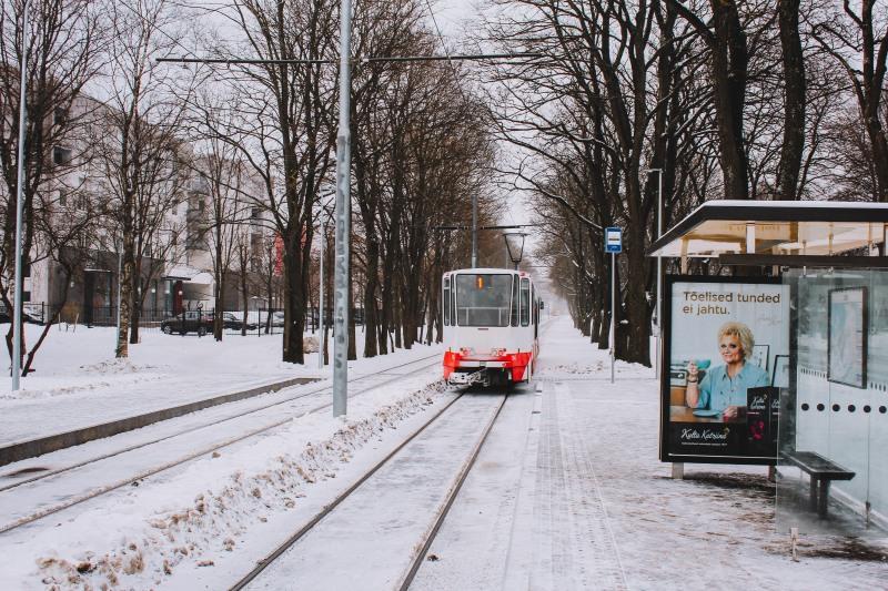 Tram ở Tallinn Estonia