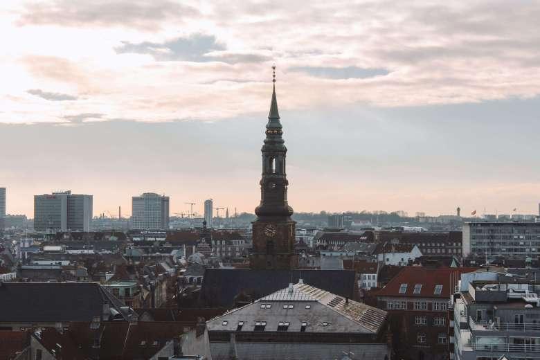 Hoàng hôn ởThe Round Tower Copenhagen