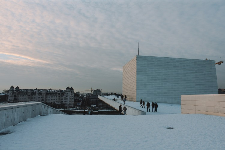 Oslo Opera House buổi chiều