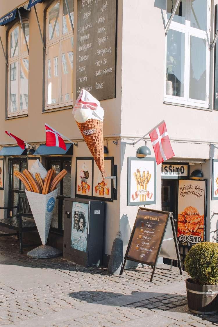 Quán kem ở Nyhavn