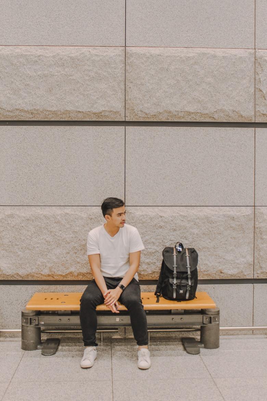 Lý Thành Cơ ở sân bay Incheon