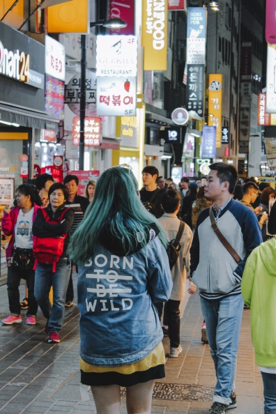 Myeong Dong dạo phố