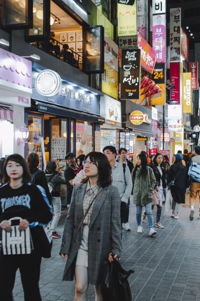 Myeong Dong phố mua sắm