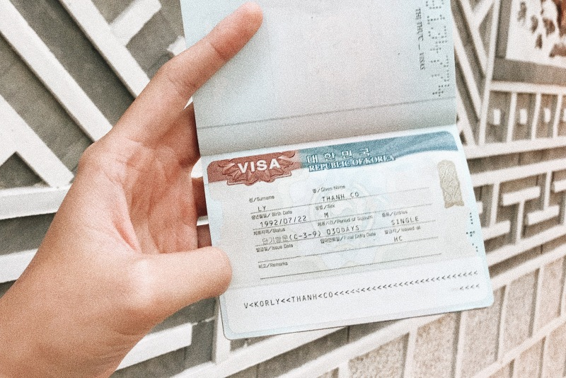 Visa Hàn Quốc của Cơ. Click vào để đọc trọn vẹn hướng dẫn cách xin visa nhé!