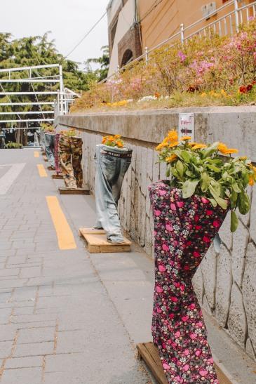 Đồ trang trí vui nhộn ở Gamcheon