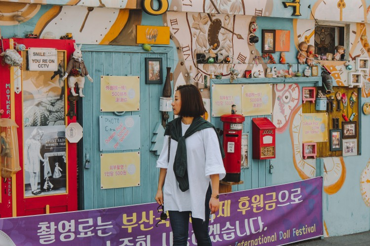 Du khách ghé qua Gamcheon