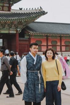 Gyeongbokgung Lý Thành Cơ và bạn ở Seoul