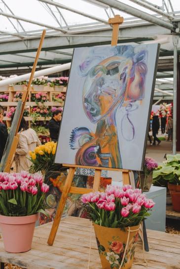 Khu trưng bày hoa trong nhà