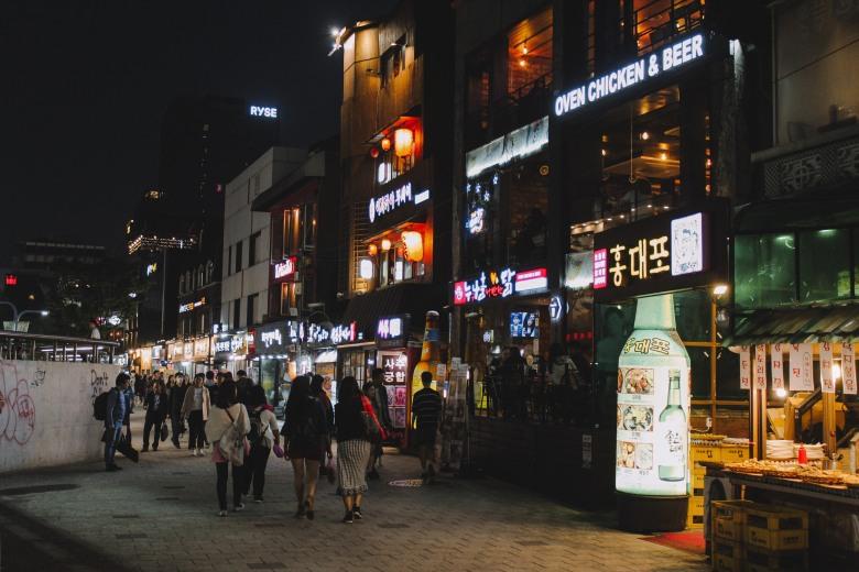 Nhà hàng Beer & Chicken ở Hongdae