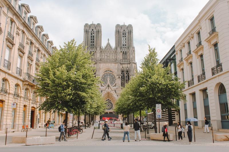 Reims với nhà thờ Đức Bà Reims