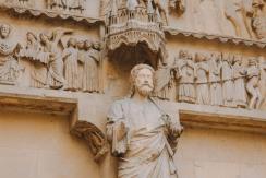 Tượng ở nhà thờ lớn Reims 1