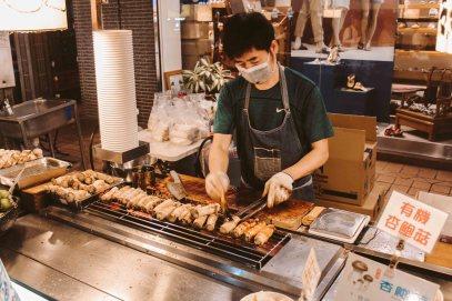 Shilin Night Market Lý Thành Cơ Travel Blog Nấm Nướng 2